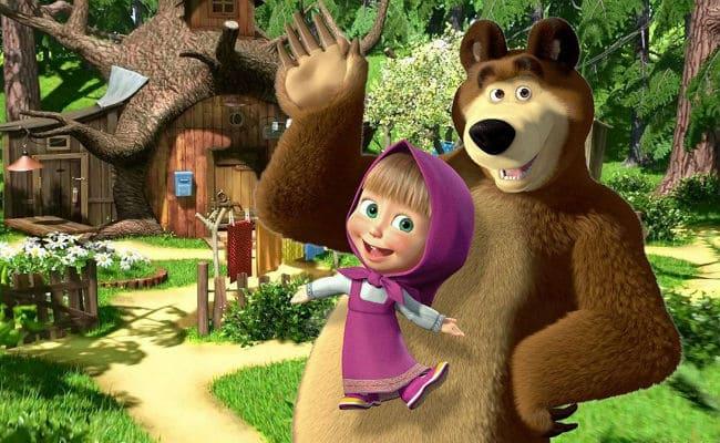 Мультфильм Маша и медведь на осетинском языке