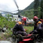 Спасение туристов в горах Северной Осетии