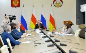Видеоконференция Председателя Правительства РСО-Алания Таймураза Тускаева