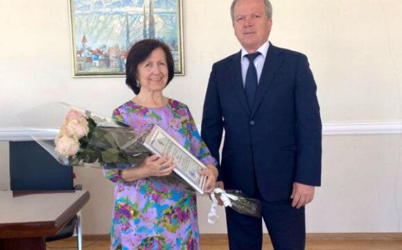 Римма Туаева получила награду от Министерства Культуры