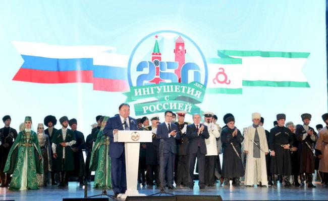 Битаров поздравил Главу Ингушетии с 250-летием в составе России