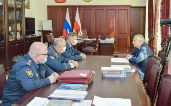 Рабочая встреча с новым начальником регионального управления ФСИН Владимиром Моравцом